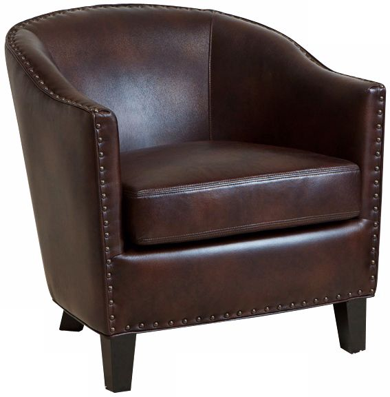 Realspace Fosner High Back Bonded Leather Chair Charles Studded Brown Bonded Leather Club Chair W7380 On Popscreen