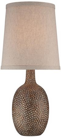 Chalane Hammered Antique Bronze Table Lamp - #W8642 ...