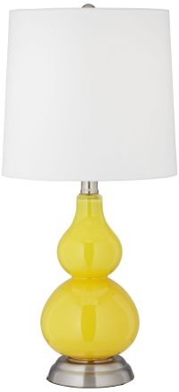 Citrus Yellow Small Gourd Accent Table Lamp - #Y7580-X8906 ...