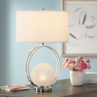 Matilda Polished Nickel Glass Ball Table Lamp - #16H67 ...