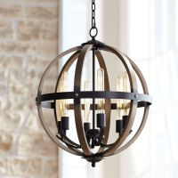 "Kimpton 6-Light 21"" Wide Dark Bronze LED Orb Chandelier ..."