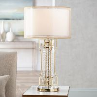 Possini Euro Lori Gold Glass Beaded Table Lamp