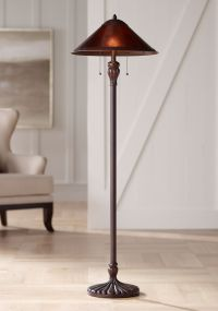 Capistrano Mica Shade Floor Lamp - #1G415 | Lamps Plus