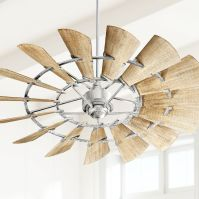 "60"" Quorum Windmill Galvanized Ceiling Fan - #1T281 ..."