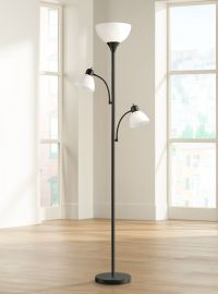 Bingham Black Tree Torchiere 3-Light Floor Lamp - #1Y323 ...