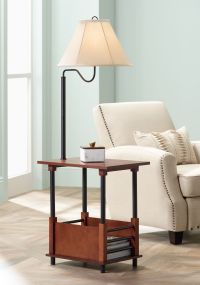 Marville Mission Style Swing Arm Floor Lamp With End Table ...