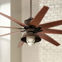 "72"" Predator Bronze Outdoor Ceiling Fan with Light Kit ..."