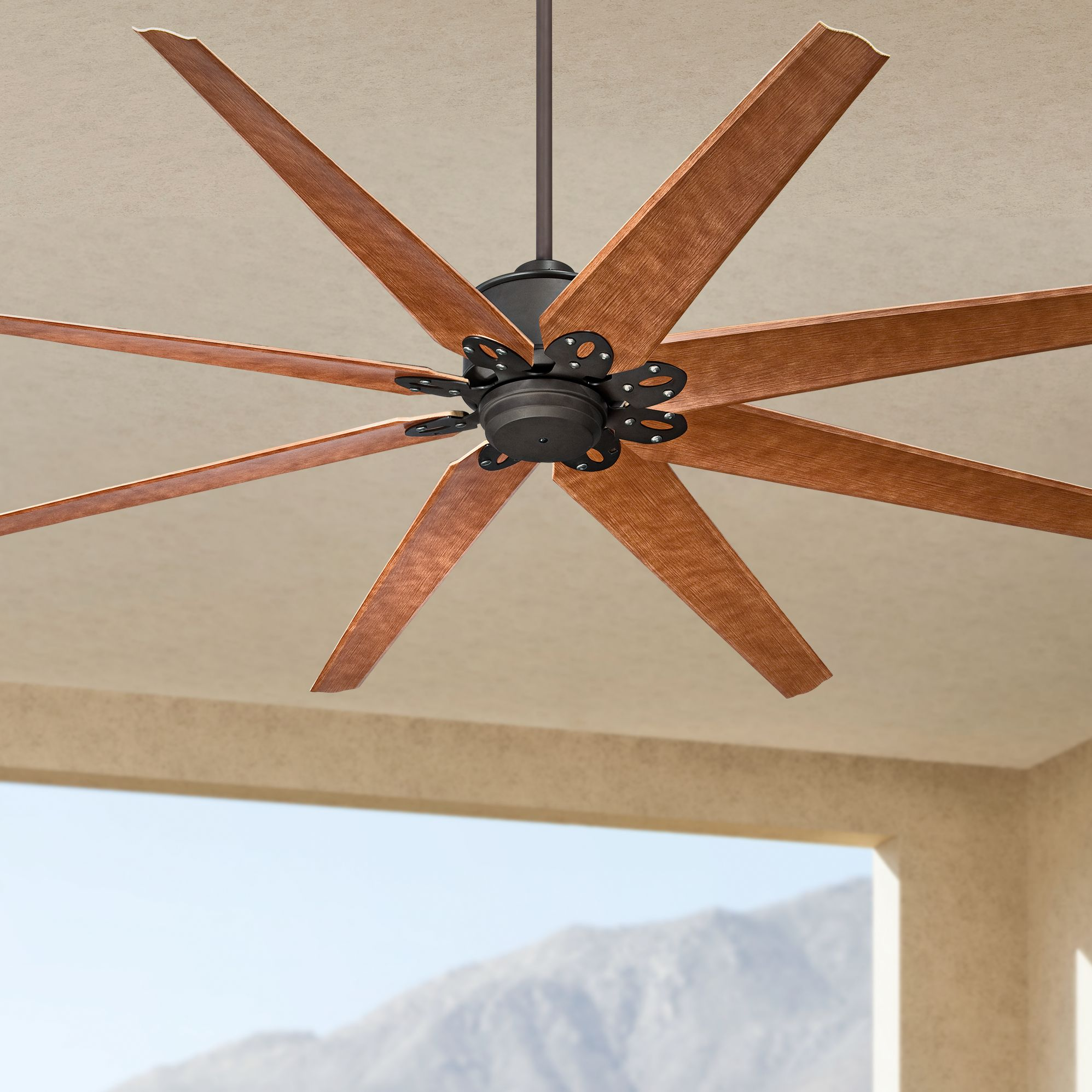 "72"" Predator English Bronze Outdoor Ceiling Fan #3k535"