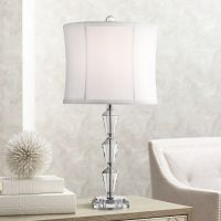 Goddin Contemporary Faceted Crystal Table Lamp - #3M957 ...