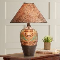 Wild Marigold Handcrafted Light Southwest Table Lamp ...