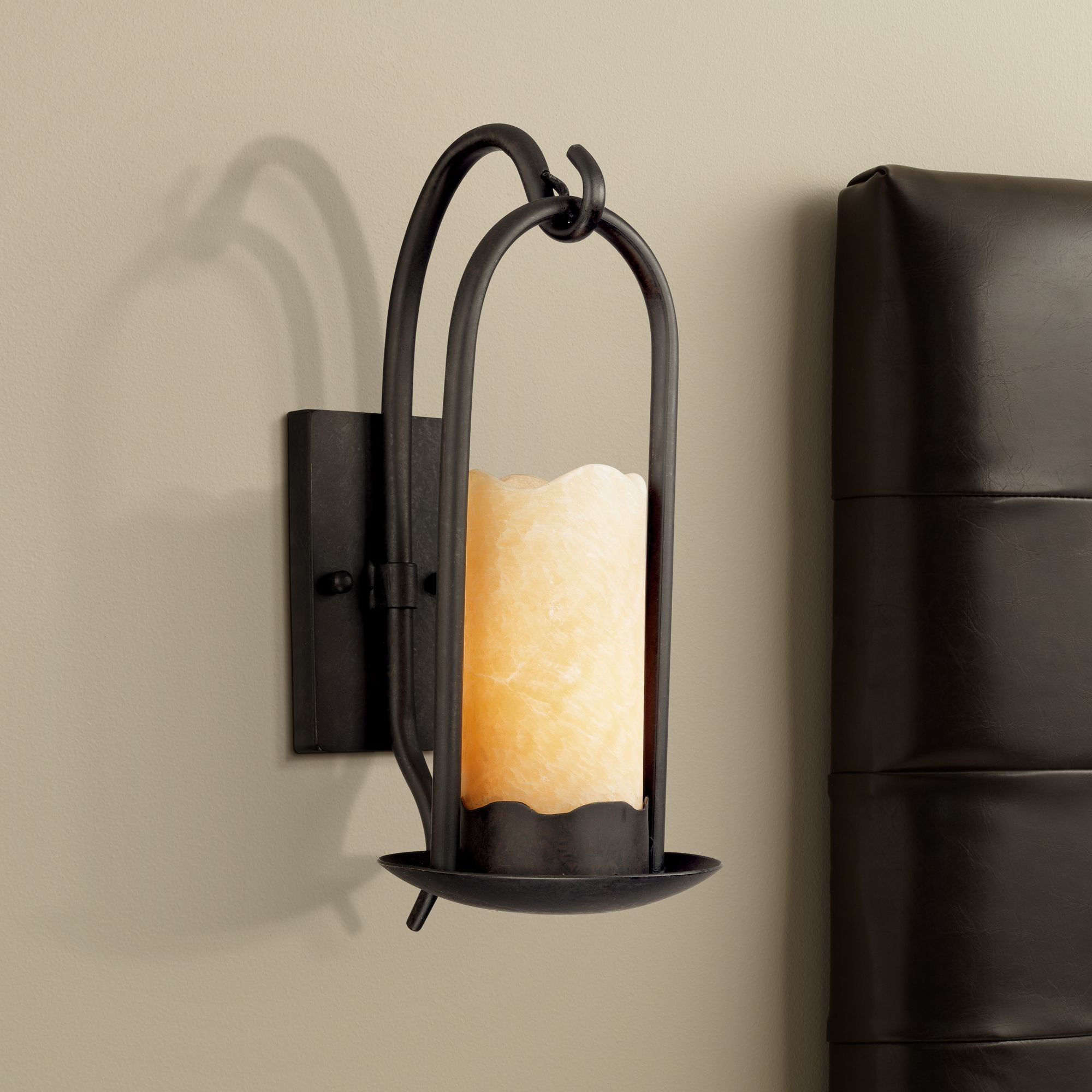 Hanging Onyx Faux Candle Wall Sconce  51685  Lamps Plus