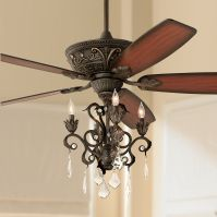 "60"" Casa Montego Bronze Chandelier Ceiling Fan"