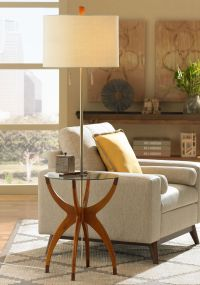 Vanguard Floor Lamp with Glass Tray Table - #5D489 | Lamps ...