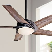 "54"" Casablanca Stealth Aged Steel LED Ceiling Fan - #5J615 ..."