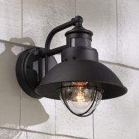"Oberlin 9""H Black Dusk to Dawn Motion Sensor Outdoor Light ..."