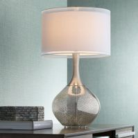 Possini Euro Design Swift Modern Mercury Glass Table Lamp ...