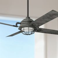"65"" Kichler Maor LED Weathered Zinc Ceiling Fan - #7K332 ..."