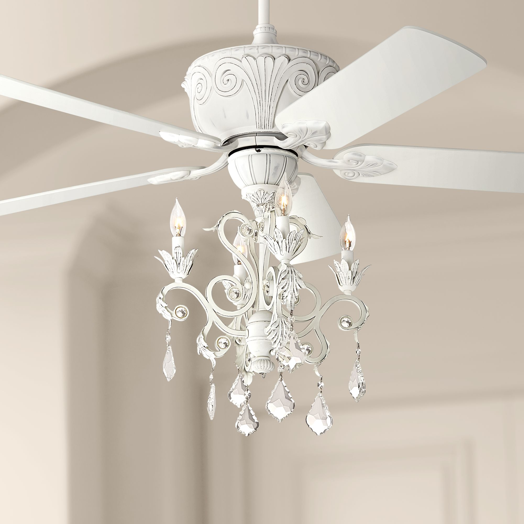 Ikea Fyndig Kitchen Reviews ~ Casa deville rubbed white chandelier ceiling fan 87534 45518 4g156