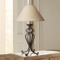 Open Scroll Rustic Wrought Iron Table Lamp - #88553 ...