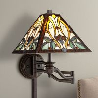 Robert Louis Tiffany Victorian Art Glass Swing Arm Wall