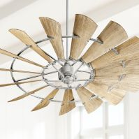 "72"" Quorum Windmill Galvanized Ceiling Fan - #9P305 ..."