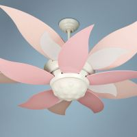"52"" Craftmade Bloom Pink and White Ceiling Fan with Light ..."