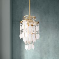 "Dolce Capiz Shell 7"" Wide Mini Pendant Light"