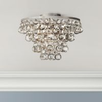 Bling Collection Polished Nickel Flushmount Ceiling Light ...