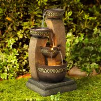 "Three Bowl 41 1/2"" High Cascading Fountain"