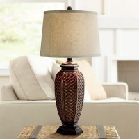 Faux Wicker Jar Table Lamp - #R7480 | Lamps Plus