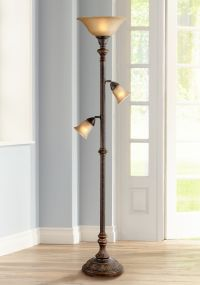 Italian Bronze 3-in-1 Torchiere Floor Lamp - #T3900 ...