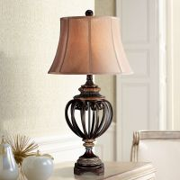 "Open Iron Scroll 36"" High Urn Table Lamp - #T5598 