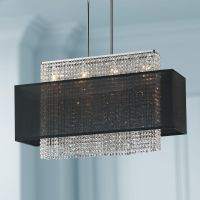 "Crystal Strands 33"" Wide Large Black Chandelier Pendant ..."