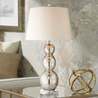 Mercury Glass Triple Gourd Table Lamp - #U5622 | Lamps Plus