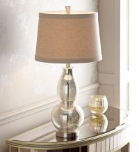 "Double Gourd 30 1/2"" High Mercury Glass Table Lamp - # ..."