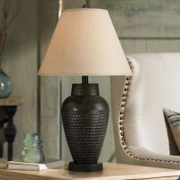 Auburn Hammered Bronze Table Lamp - #V4294 | Lamps Plus
