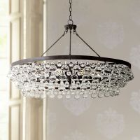 "Robert Abbey Bling Collection 35""W Deep Bronze Chandelier"