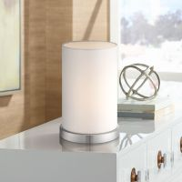 "White Cylinder 10 1/2""H Accent Table Lamp by 360 Lighting ..."