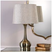 Uttermost Balle Antique Brass Genie Bottle Table Lamp ...