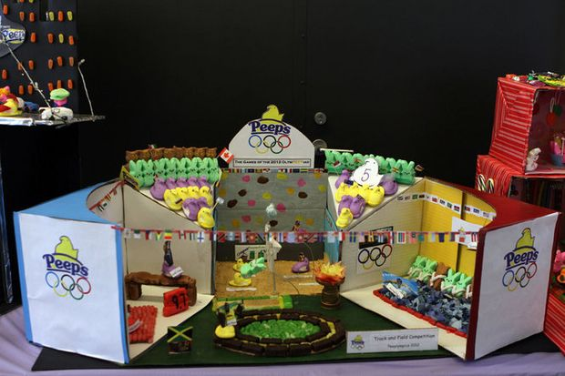 Olympicthemed diorama takes gold at Peepsfest