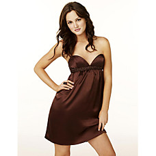 sweetheart short/mini satin cocktail dress $US 69,99