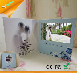 Promotional Item Card Lcd Screen Brochures Wedding Invitations Cards