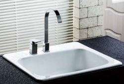 single bowl cast iron kitchen sink packages china manufacturers