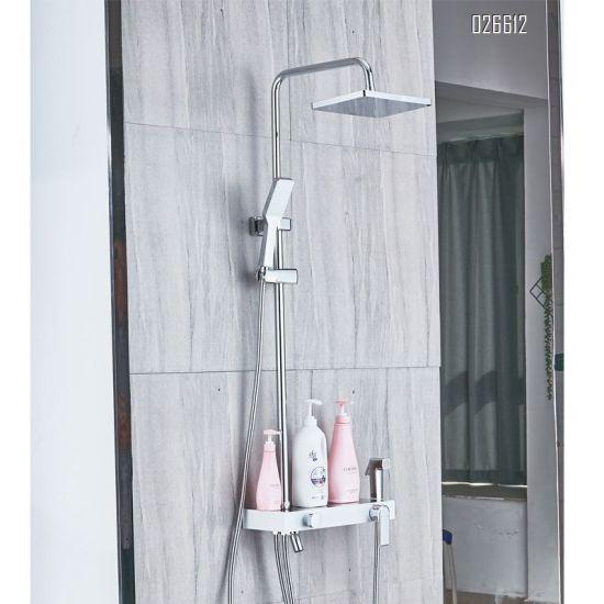 hot item simple design black concealed installation bathroom shower faucet set