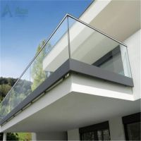 China Modern Balcony Railing Design Glass with Aluminium U ...