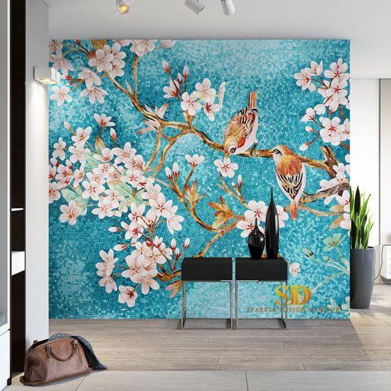 glass mosaic wall art paulbabbitt com