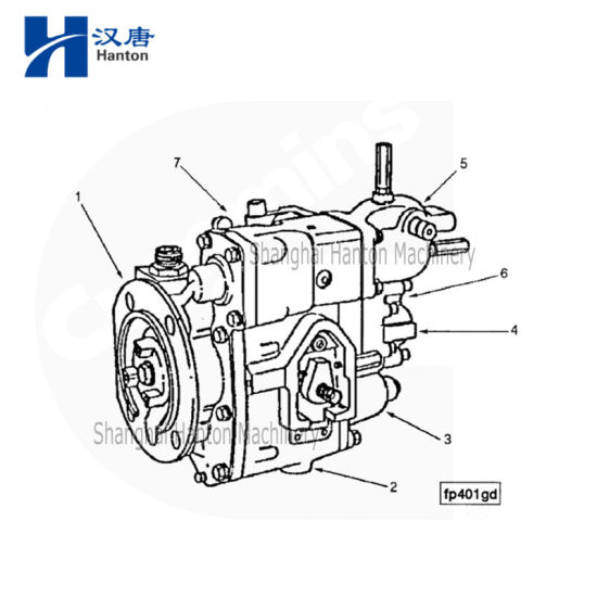 China Cummins marine diesel engine motor KTA19 parts