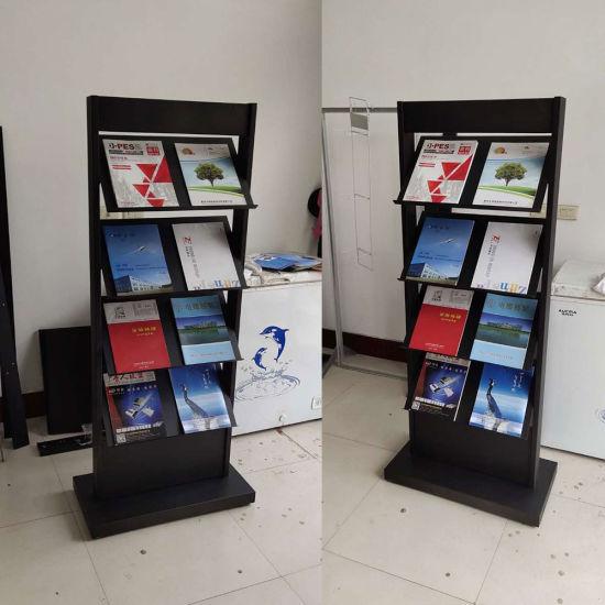 portable literature stand free standing magazine rack
