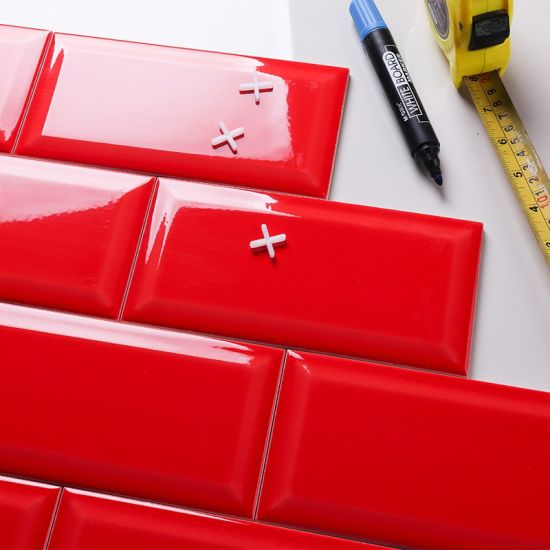 red 10x20cm 4x8inch kitchen backsplash ceramic subway tiles