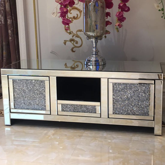 modern silver mirrored furniture living